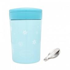 Autumnz - Chic Stainless Steel Food Jar 500ml *Turquoise* (FOC Folding Spoon)