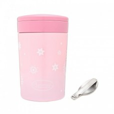 Autumnz - Chic Stainless Steel Food Jar 500ml *Sweet Pink* (FOC Folding Spoon)