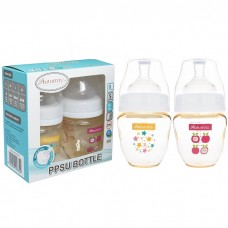 Autumnz - PPSU Wide Neck Feeding Bottle 4oz/120ml (Twin Pack) *Starry Sparkle / Juicy Apple*