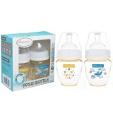 Autumnz - PPSU Wide Neck Feeding Bottle 4oz/120ml (Twin Pack) *Starry Sparkle / Fly With Me*