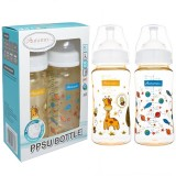 Autumnz - PPSU Wide Neck Feeding Bottle 10oz/300ml (Twin Pack) *Jovial Giraffe / Universe*