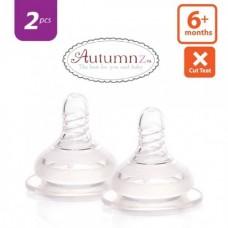Autumnz - Soft Silicone Teat FAST Flow *2pcs* (6+ months / X-Cut)
