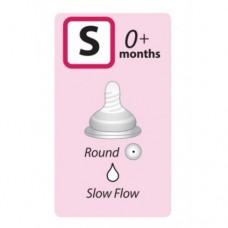 Autumnz - Soft Silicone Teat SLOW Flow *2pcs* (0+ months /Round Hole)