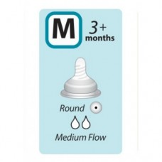 Autumnz - Soft Silicone Teat MEDIUM Flow *2pcs* (3+ months /Round Hole)