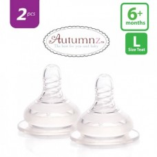 Autumnz - Soft Silicone Teat FAST Flow *2pcs* (6+ months /Round Hole)
