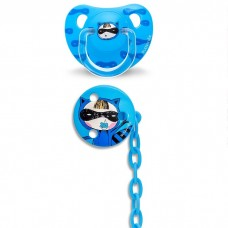 Suavinex - Anat. Soother +6m Silic And Soother Chain *Blue Secret* BEST BUY