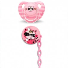 Suavinex - Anat. Soother +6m Silic And Soother Chain *Red Secret* BEST BUY