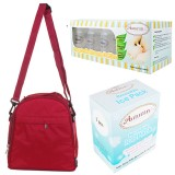 Autumnz - Classique Cooler Bag Complete Set (Scarlet Checks)