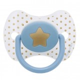 Suavinex - Haute Couture Premium Physio Soother Silicone 0-4m (Light Blue Star)