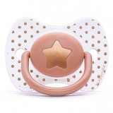 Suavinex - Haute Couture Premium Physio Soother Silicone +4m (Orange Star)