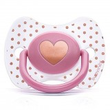 Suavinex - Haute Couture Premium Physio Soother Silicone +12m (Pink Heart)