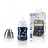 Pacific Baby - Hot-Tot Insulated Baby Bottle 4oz/120ml *Swirls*
