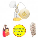 Medela - Swing Breastpump with Cooler Bag & Nursing Bib (Extended 1 Year Warranty)