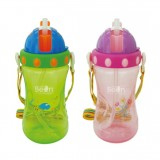 Little Bean - Drinking Cup With Belt 400ml/13oz (Green & Pink)