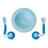 Ezee Reach - Stay-Put Cutlery & Bowl *Blue Car*