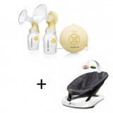 Medela - Swing Maxi Double Electric Breastpump with 4moms Bounceroo