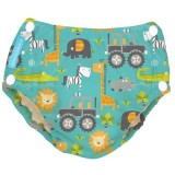 Charlie Banana - 2-in-1 Swim Diapers & Training Pants w Snaps (Gone Safari)