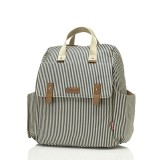 Babymel - Robyn Convertible Backpack (Stripe Navy)