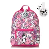 Babymel - Zip & Zoe Mini Backpack & Safety Harness / Reins Age 1-4 Years (Robot Pink)