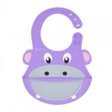 Autumnz - Adjustable Soft Silicone Bib *Hippopotamus*