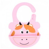 Autumnz - Adjustable Soft Silicone Bib *Cow*