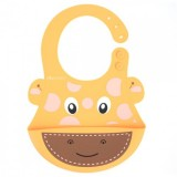 Autumnz - Adjustable Soft Silicone Bib *Giraffe*