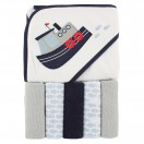 Luvable Friends - Hooded Towel & 5pcs Wash Clothes *05247*