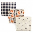 Hudson Baby - Muslin Blanket Gift 3pk *51620*