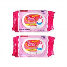 Pureen - Baby Wipes 100's x2 (Pink Packaging) *BEST BUY*