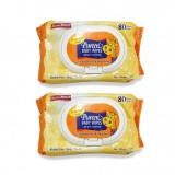 Pureen - Baby Wipes 80's x2 (Fragrance Free) *BEST BUY*