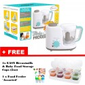 Autumnz - 2-in-1 Baby Food Processor (Steam & Blend) *TURQUOISE* FREE Baby Food Storage Cups (2oz) & Food Feeder