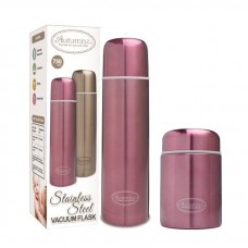 Autumnz - SS Vacuum Flask & Food Jar Set 750ml *Metallic Burgundy*