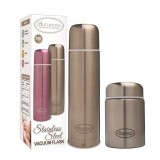 Autumnz - SS Vacuum Flask & Food Jar Set 750ml *Metallic Gold*