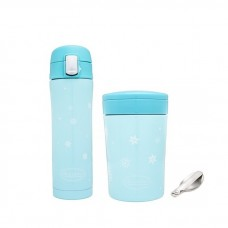 Autumnz - SS Vacuum Flask & Food Jar Set (Chic) 500ml *Turquoise*