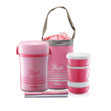 Thermos - Lifestyle Lunch Jar with Chopstick & Pouch 800ml (Pink)