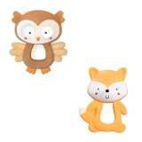 Bright Starts - Soothimals Natural Rubber Teether (Fox / Owl)