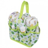 Autumnz Portable Diaper Caddy (Lime Polka)