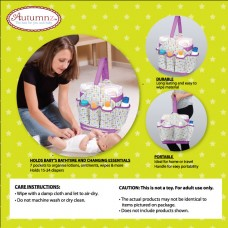 Autumnz Portable Diaper Caddy (Cheery Cherry)