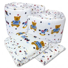 Bumble Bee - 4pc Crib Set (Knit Fabric)