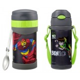 Thermos - BEN 10 Ice Cold Bottle 400ml + Food Jar 500ml Set