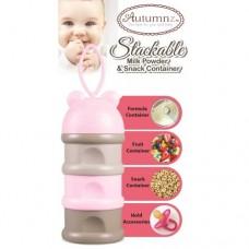 Autumnz - Stackable Milk Powder & Snack Container *Pink*