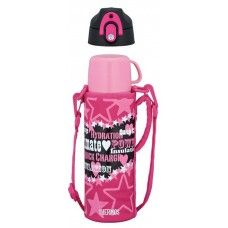 Thermos - Stainless Steel Dual Stopper Bottle w Pouch 0.8L (Pink) *FFR-801WF*