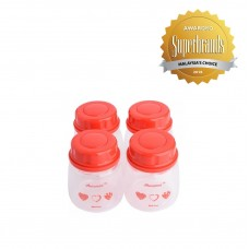 Autumnz - Standard Neck Breastmilk Storage Bottles *2oz* (4 btls) - Red Heart