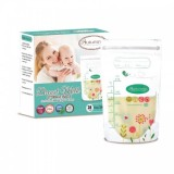 Autumnz -Double Zip Lock Breastmilk Storage Bag (28 bags) *7oz*