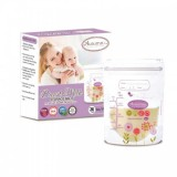 Autumnz -Double Zip Lock Breastmilk Storage Bag (28 bags) *5oz*