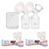 Tiny Touch Intelligent Electric Double Breast Pump & 2 x Tiny Touch Milk Storage Combo Pack
