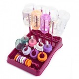 * EASY Bottle Drying Rack (Plum/White)