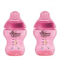 Tommee Tippee - Closer To Nature 9oz PP Tinted Bottle (Twin) *Magenta*