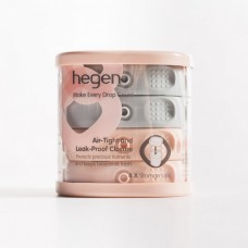 Hegen - PCTO Breast Milk Storage Lids Pink/Grey (4 pack) *BEST BUY*