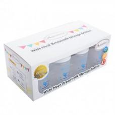 Autumnz - Wide Neck Breastmilk Storage 8 Bottles (5oz) WHITE CAP *Jumbo Whale*